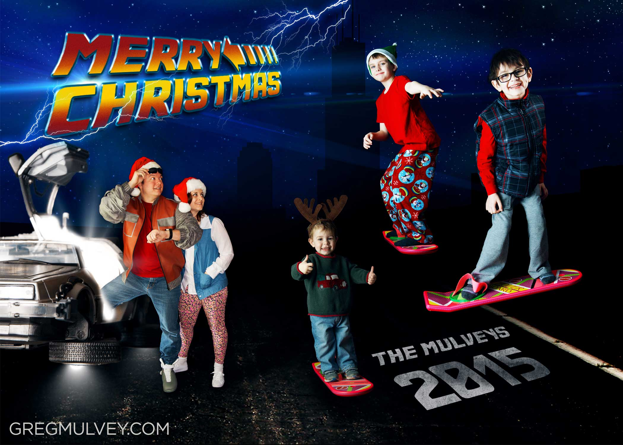 Funny Christmas Cards Back To The Future Augmented Reality